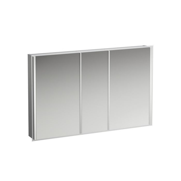 Laufen Frame 25 Armoire A Miroir Led 4088049001441 120cm 3 Portes Miroir Lateral