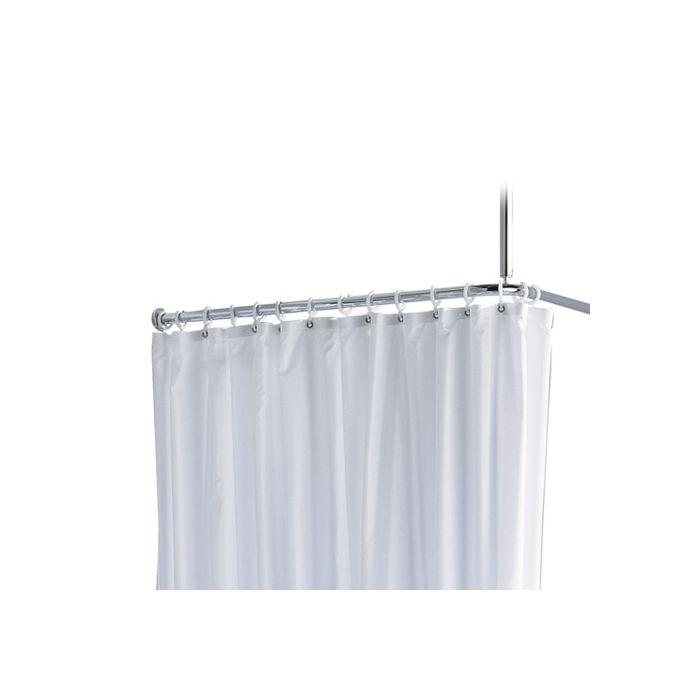 keuco shower curtain rods set plan 14937010900 for shower 90 x 90 cm chrome