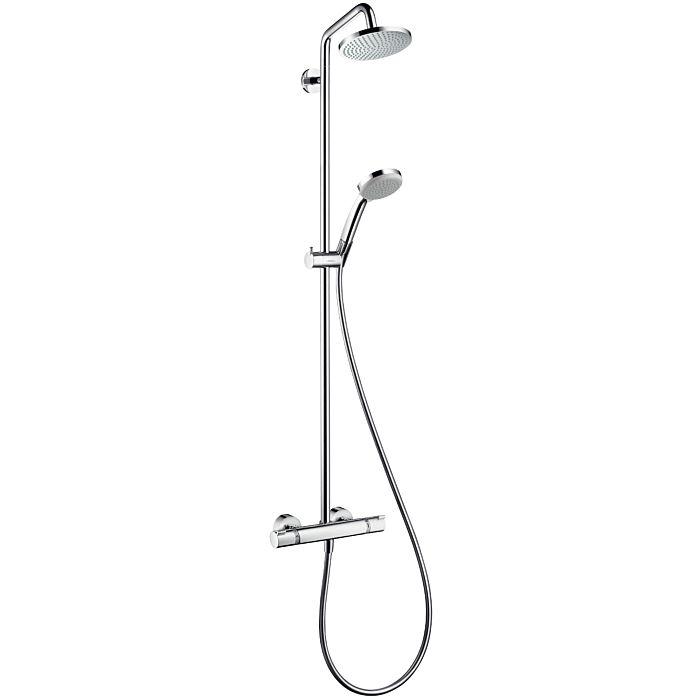 hansgrohe croma 160 showerpipe 1jet 27135000 avec mitigeur thermostatique chrome