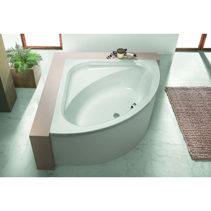hoesch parana baignoire d angle 5572 010 140 x 140 cm blanc version a encastrer