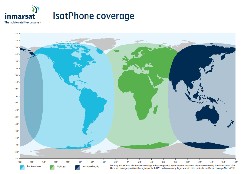 Inmarsat Isat Phone Coverage