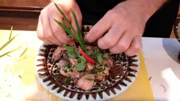 Main Course: Nue Yang - Nam Tok (grilled beef with spicy salad)