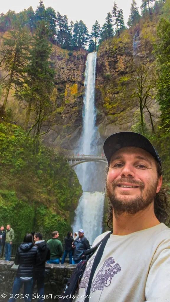 Selfie at Multnomah Falls #14