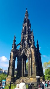 Scott Monument from Edinburgh City Tour
