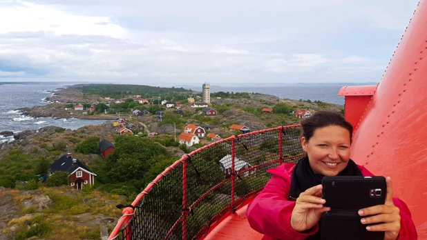 Landsort from Lighthouse with Heidi