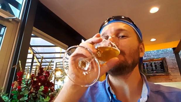 Selfie Drinking Truffle Beer