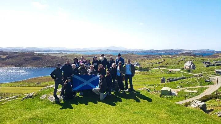 Hebridean Hopper Group at Dun Carloway