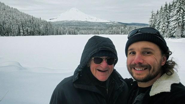 Dad and I at Mt. Hood (Christmas Present)