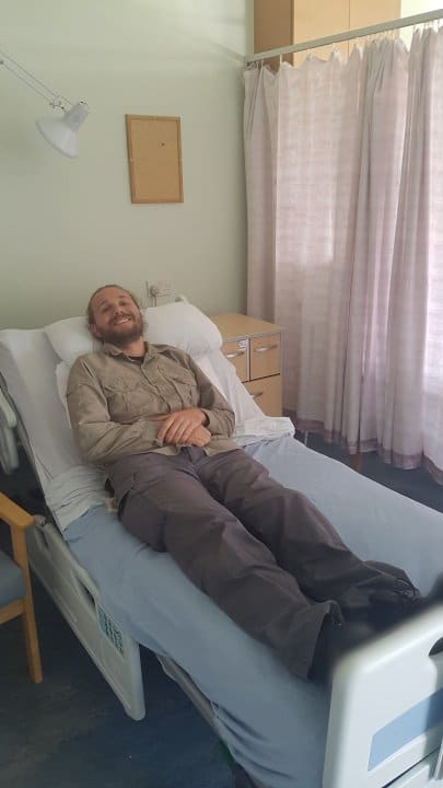 Selfie in Hospital Bed