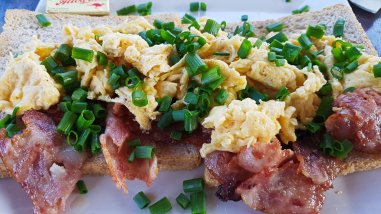 Bacon and Egg Sandwich at Chill House