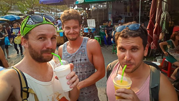 Juliano, Payton and I at Chatuchak Market