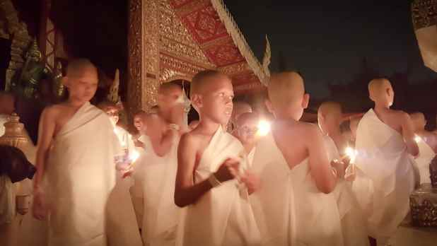 Child Monks at Wat Srisuphan