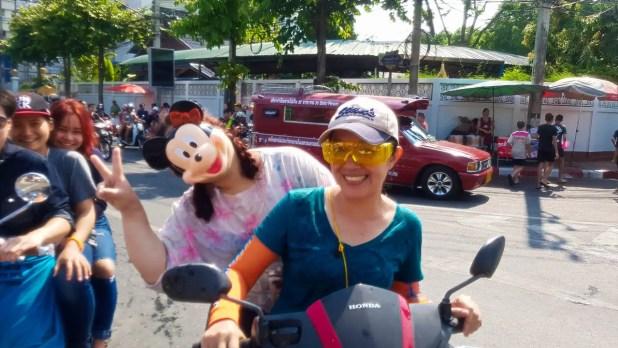 Mickey Face Mask at Songkran