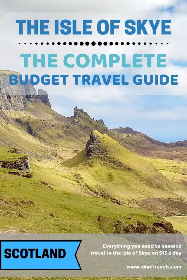 The Isle of Skye on a Budget Pin