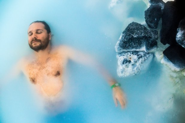 Selfie Relaxing in the Blue Lagoon