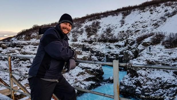 Selfie at Barnafoss Waterfall