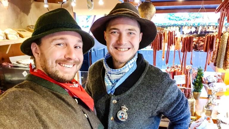 Selfie at the Edinburgh Christmas Market