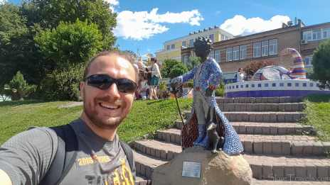 Selfie with The Little Prince in Landscape Alley