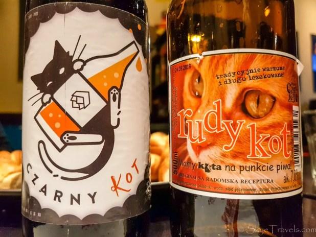 Black Cat Beer on Food Tour in Krakow