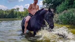 Selfie Horse Swimming at Svata Katerina Resort #1