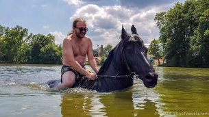 Selfie Horse Swimming at Svata Katerina Resort #4