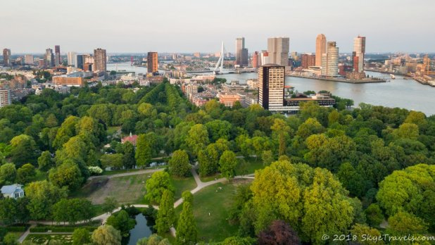 View from the Euromast in Rotterdam