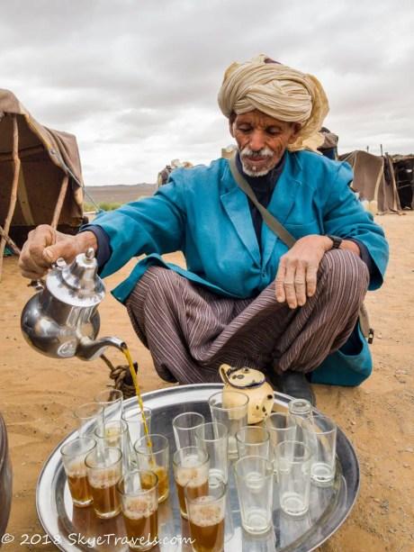 African Desert Safari Berber Serving Tea