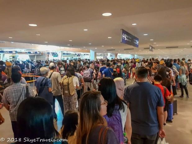 Immigration Lines at Kuala Lumpur International Airport