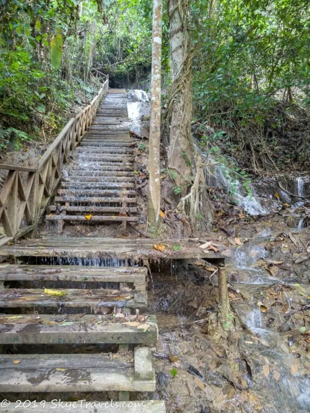 Kuang Si Waterfalls Stairs