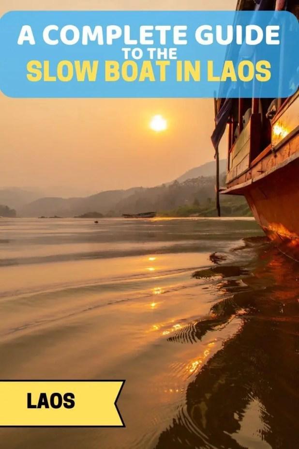 Slow Boat in Laos Pin