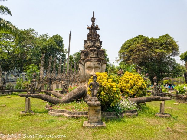 Buddha Park Statues #10 - Four-Faced Statue