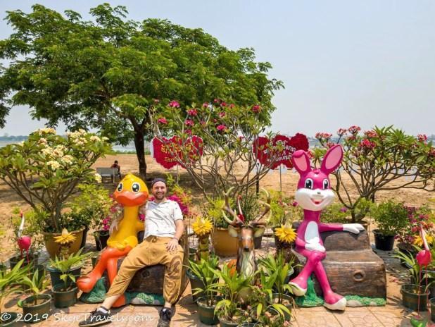 Seflie at the Buddha Park Flower Garden