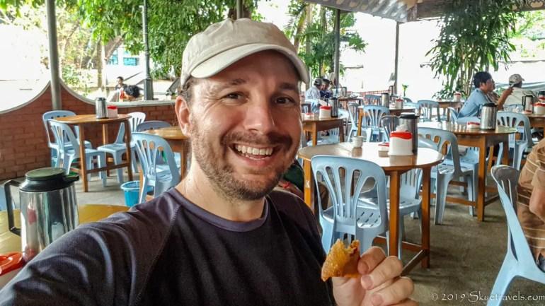 Selfie at Valentine Cafe in Tachileik, Myanmar