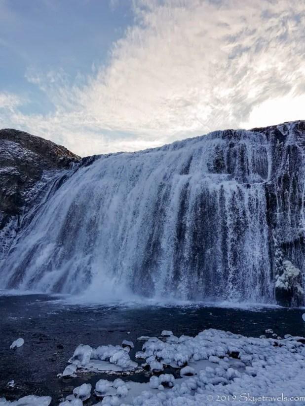 Close-Up of Þórufoss Waterfall