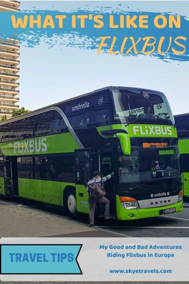 Riding Flixbus in Europe