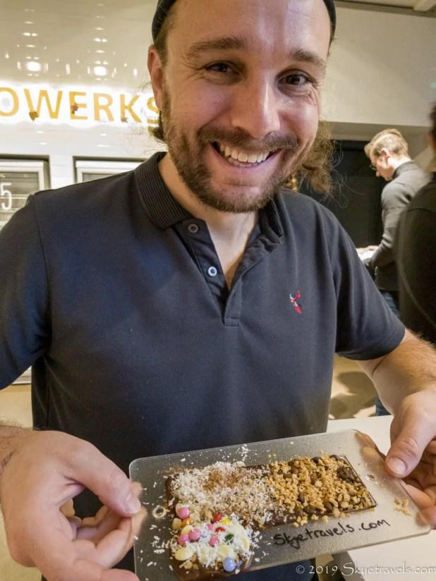 Selfie at Chocoversum Making Chocolate Bar