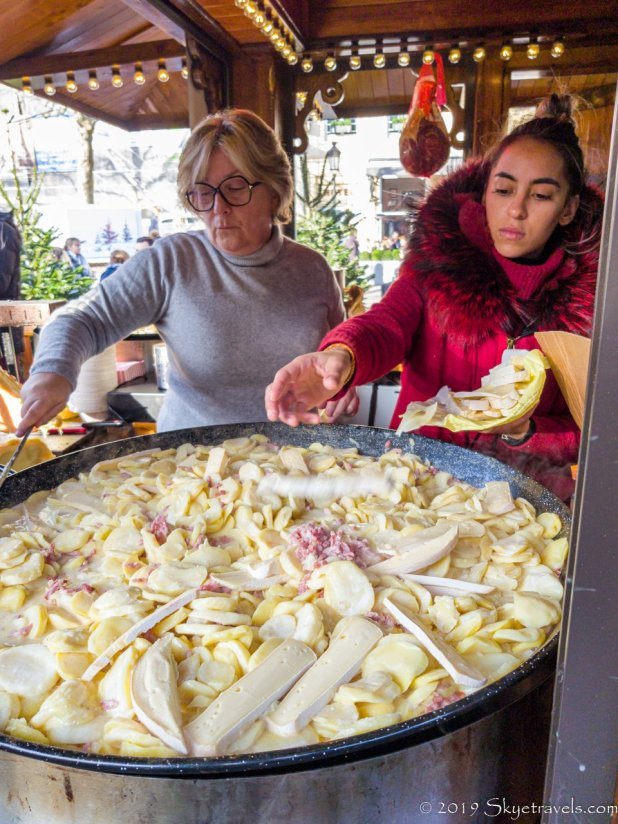 Tartiflette at the Luxembourg Christmas Market