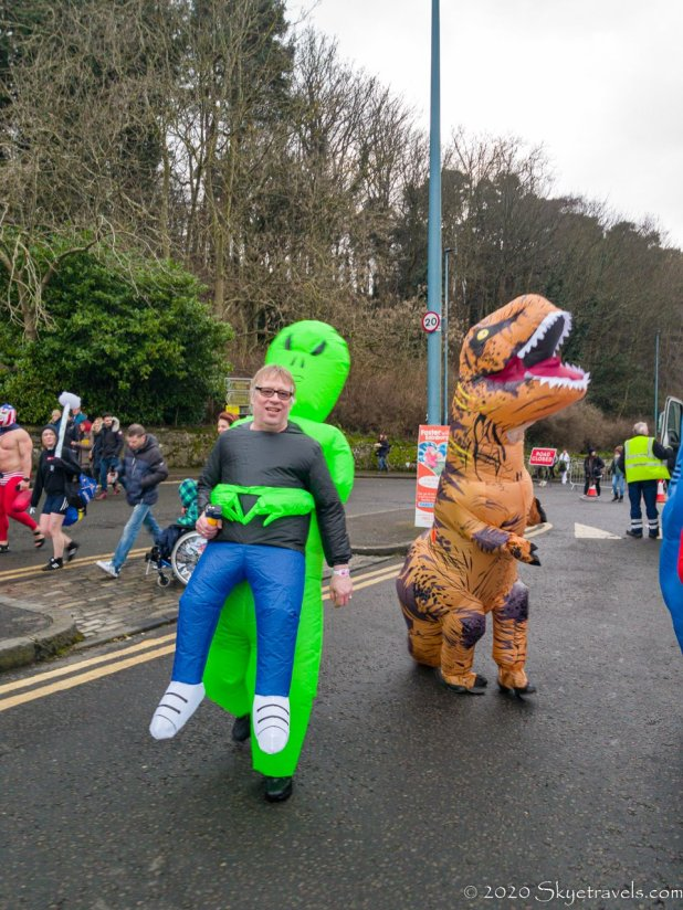 Alien Holding Guy Costume at Loony Dook 2020