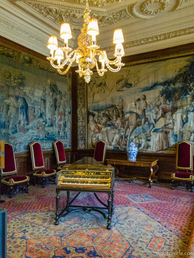 Holyrood Palace King's Ante-Chamber Harpsichord