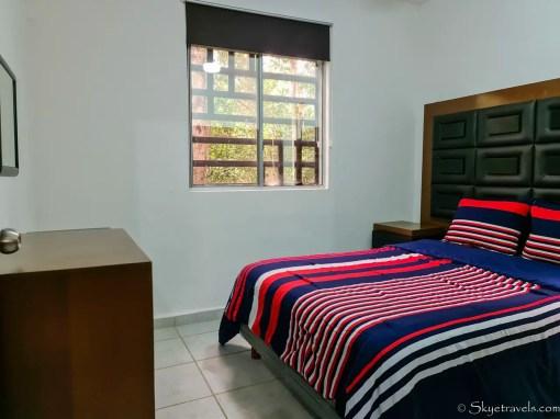 Bedroom of Airbnb in Puerto Morelos