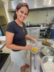 Vanesa on the Mexican Cooking Class