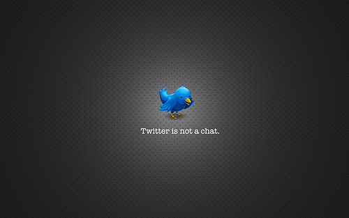 Twitter is not a Chat