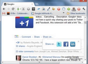 Condividere i contenuti di Google Plus su Facebook e Twitter