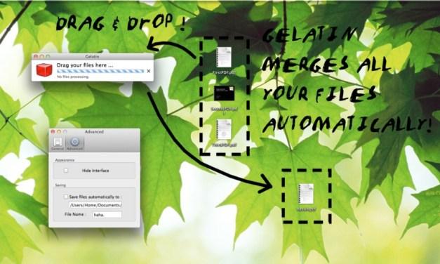 Mac: Unire più files PDF semplicemente, con Gelatin