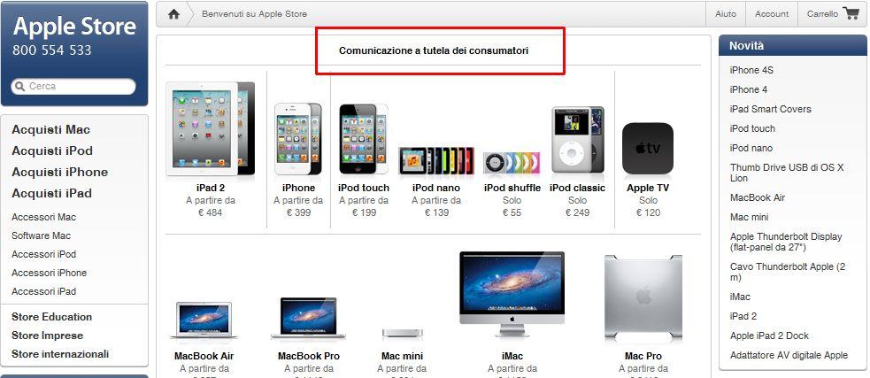 Apple accetta la decisione dell'AgCom: la garanzia per i prodotti vale due anni