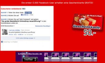 Truffe su Facebook: attenti ai falsi buoni da 50 Euro