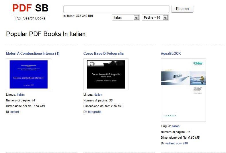 PDFSB: motore di ricerca per documenti PDF