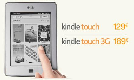 Disponibile anche in Italia il nuovo Kindle Touch
