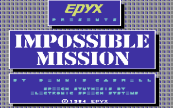 Impossible Mission | Titolo
