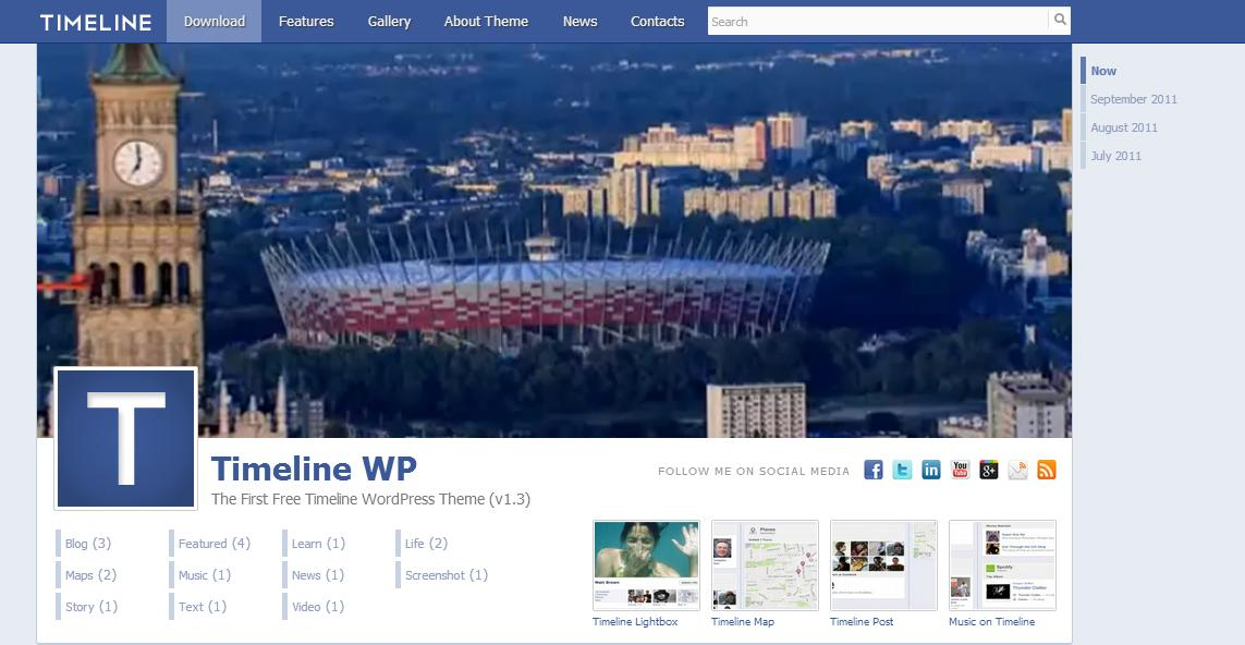 Timeline, un tema per WordPress simile a Facebook – Gratis!